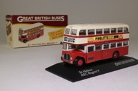 Atlas Editions 4 655 124; AEC Regent Double Decker Bus; St Helens Corporation, 309 Southport via Burtonwood, Winwick Rd
