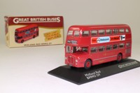 Atlas Editions 4 655 126; BMMO D9 Double Deck Bus; Midland Red; 658 Leicester via Nuneaton