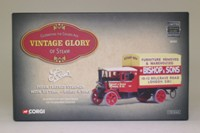 Corgi Classics 80202; 1925 Foden C Type Steam Lorry; Flatbed With Lift Van, Bishop & Sons