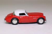 Corgi D733/1; Austin Healey 3000 Mk1; Hard Top, Red, Cream