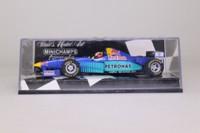 Minichamps 430 960014; Sauber C15 Formula 1; 1996 Red Bull; Johnny Herbert; RN14
