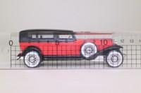 Solido 4156; 1930 Duesenberg Model J Sedan; Red, Black Roof