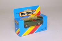 Matchbox/Lesney 138; Jaguar XK120 Roadster; Green; Red Seats