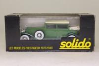 Solido 4085; 1931 Cadillac V16; 452A Landaulet; White/Jade; Hood Down
