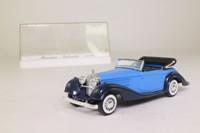 Solido 4086; 1939 Mercedes-Benz 540K; Open Top; Blue, Dark Blue Chassis