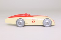 Dinky Toys 23a; Racing Car; Cream, Red Detailing, Metal Wheels