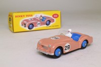 Dinky Toys 111; Triumph TR2, Competition Finish; Salmon Pink, Blue Interior & Hubs