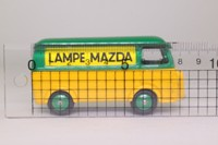 Dinky Toys 25B; Peugeot D3 Van; Mazda Lamps