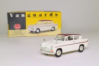 Vanguards VA1002; Ford Anglia 105E; Super, White & Maroon