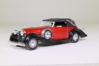 Solido 4031; 1939 Delage D8-120 Two Seater; Soft Top, Metallic Red/Black
