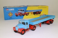 Corgi Classics 16201; Scammell Highwayman; Articulated Dropside Trailer, Pentus Brown