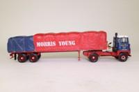 Corgi Classics CC12609; Scammell Crusader Artic; Platform Trailer, Sheeted Load, Morris Young Ltd, Perth