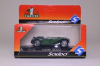 Solido 4002; 1938  Jaguar SS100 Roadster; Open Top; British Racing Green