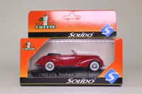 Solido 4160; 1939 Alfa Romeo 6C 2500 Sport; Open Top, Red