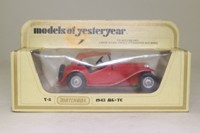 Models of Yesteryear Y-8/4; 1945 MG TC; Soft Top, Red & Tan