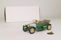 Models of Yesteryear YMS07-M; 1914 Prince Henry Vauxhall; Green, Silver Bonnet