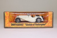 Models of Yesteryear Y-1/3; 1936 Jaguar SS100; Open Top, White, Larger Sidelights