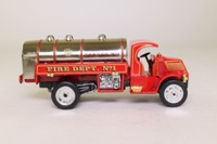 Models of Yesteryear YFE11; 1923 Mack AC Water Tanker; Fire Dept No1