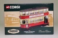 Corgi Classics 36704; Double Deck Tram, Closed Top, Closed Platform; London Transport; 36 Embankment