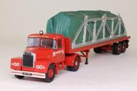 Corgi Classics CC10704; Scammell Highwayman; Artic Flatbed; Westfield Transport, Cradled Load