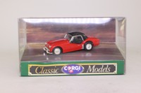 Corgi Classics D736/1; Triumph TR3a; Hard Top, Red, Black Roof