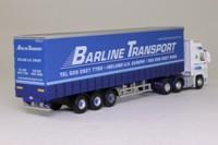 Oxford Diecast VOL01CS; Volvo FH; Artic Curtainside, Barline Transport