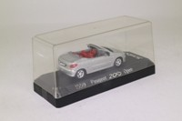 Solido 1559; 2000 Peugeot 206 Cabriolet; Silver, Open Roof