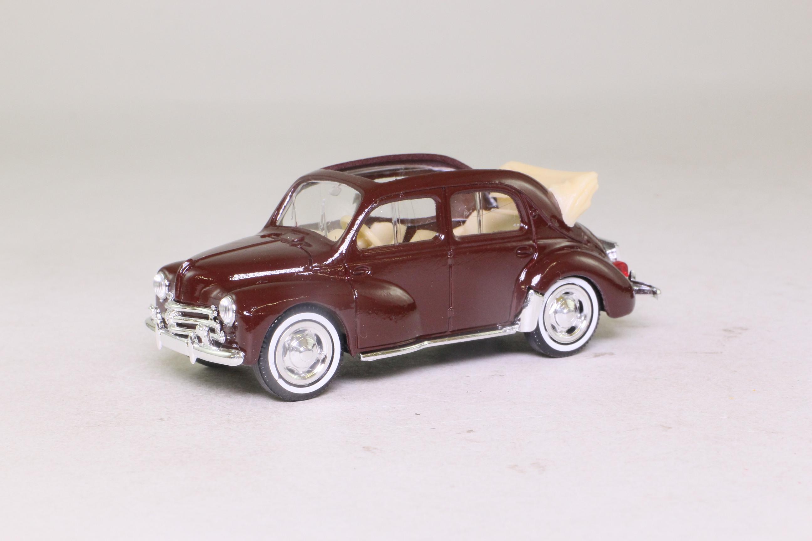 Solido 4538; 1954 Renault 4CV; Open Top, Burgundy