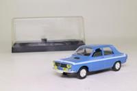 Solido 1857; Renault 12 Sedan; 1971 Gordini; Blue & White