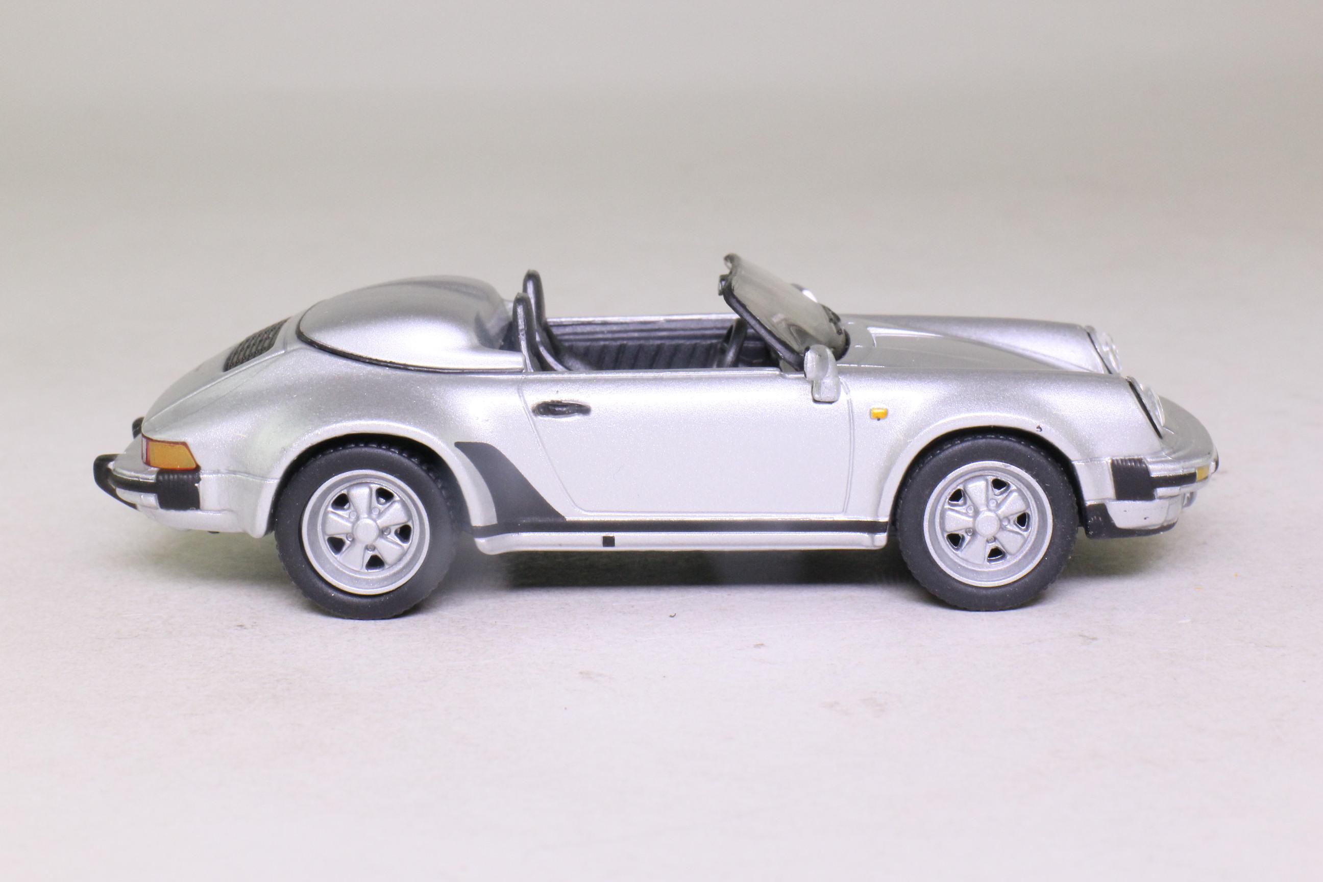 Solido 1867; 1988 Porsche 911 Speedster; Metallic Silver