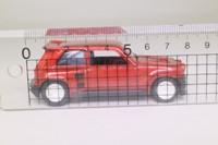 Solido 1865; Renault 5 Maxi Turbo; 1986 Kit Car; Street, Dark Red Metallic