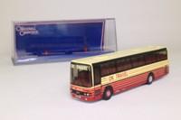 Corgi OOC 42705; Van Hool Alizee Coach; OK Travel, Bishop Auckland, with rear window