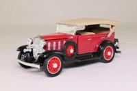 National Motor Museum Mint SS-T5410; 1932 Chevrolet Phaeton; Soft Top, Black & Red