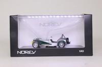 Norev 270211; Caterham Super Seven; Silver, Green & Yellow