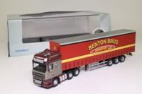 Oxford Diecast DAF11CS; DAF 105 Artic; Curtainside, Benton Bros Transport Ltd