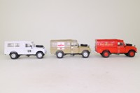 Cararama & Hongwell Land-Rover Military, 3 Vehicle Set; 109in Series 3 Canvas Top