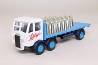 Models of Yesteryear Y-42/1; 1939 Albion CX 27 10 ton Lorry; 6 Wheel Rigid Flatbed; Libbys, Milk Churn Load