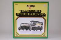 Corgi Classics D4/1; Hants & Dorset 2 Bus Set; Bedford OB Coach & AEC RT Bus