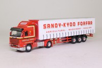 Oxford Diecast 76S143004; Scania 143 Artic; Curtainside, Sandy Kydd, Forfar