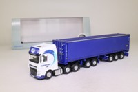 Oxford Diecast 76DXF001; DAF XF Euro 6; D-TEC Combi Trailer & Container; Maritime