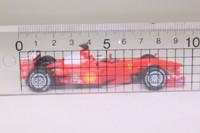 Hot Wheels 26749; Ferrari F1-2000 Formula 1; 2000 German GP 1st, Rubens Barrichello; RN4