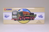 Corgi Classics 97931; AEC Ergomatic Cab; 8 Wheel Rigid Flatbed With Chains, Crates & Barrels Load, Greenall Whitley