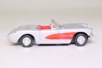 Newray 48526; 1957 Chevrolet Corvette; Open Roadster, Silver & Red