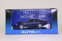 Auto Art 53631; 1998 Jaguar XK8; Coupe; Blue Metallic
