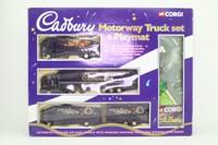 Corgi 60010; Cadbury Motorway Truck Set; Volvo, Scania & ERF