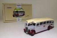 Corgi Classics 97186; AEC Regal Half Cab Coach; Grey Cars, Excursion & Tour, Salcombe