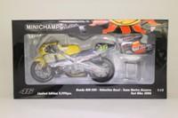 Minichamps 122 016146; Honda NSR 500 Motorcycle; 2001 MotoGP, Valentino Rossi, Team Nastro Azzurro