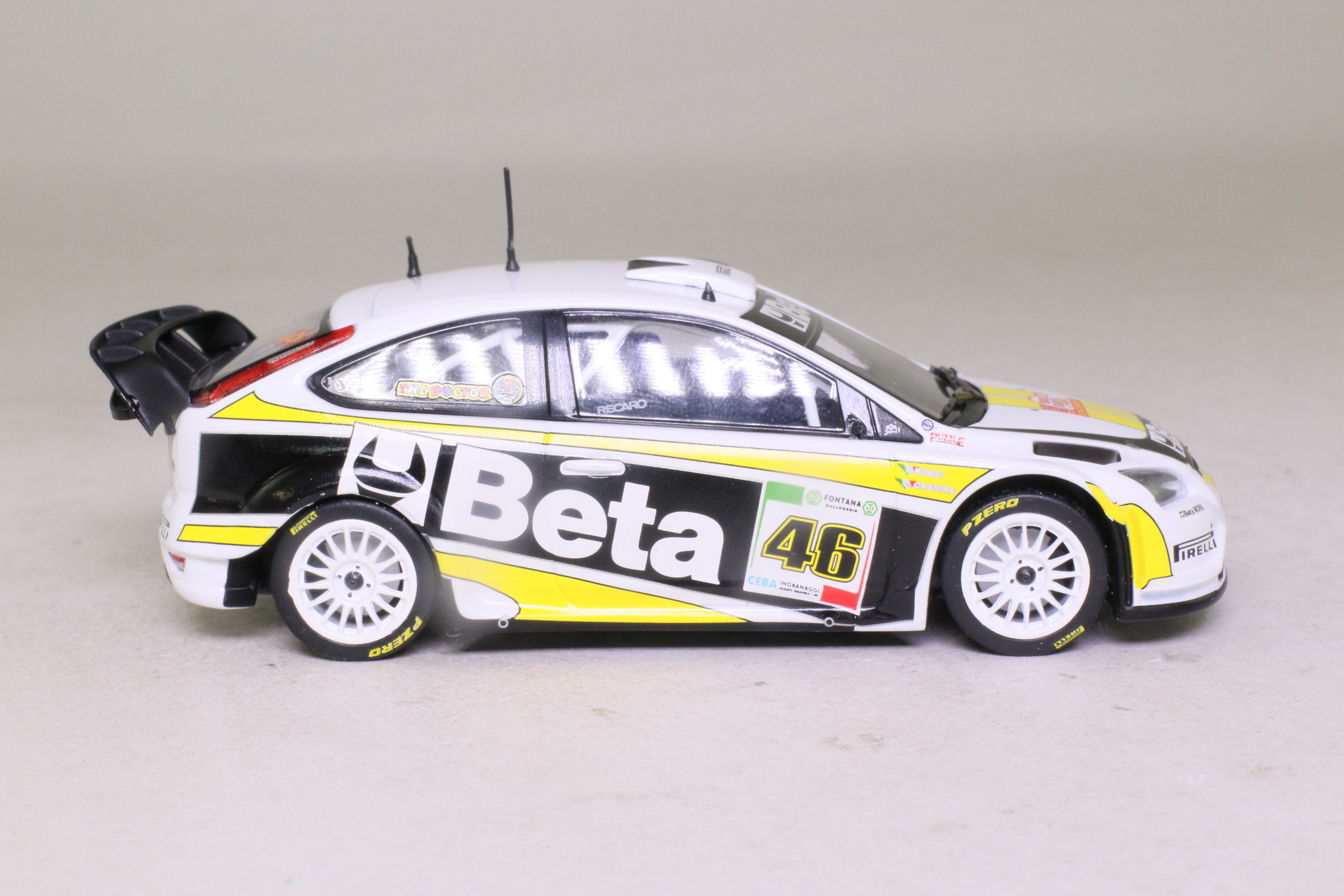Minichamps 400 088946; Ford Focus WRC; 2008 Monza Rally 2nd, Valentino Rossi, RN46