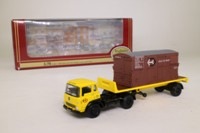 EFE 22205; Bedford TK Artic One Axle Flatbed; British Railways, Container Load, Yellow