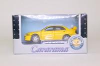 Cararama 00143; 1999 Mitsubishi Lancer Evo VI; Yellow